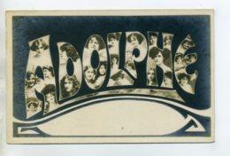 Prénom 024 ADOLPHE Avec  Visages De Femmes Art Nouveau 1905 Aspect Carte Photo - Firstnames