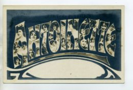 Prénom 025 ANTOINETTE Avec  Visages De Femmes Art Nouveau 1905 Aspect Carte Photo - Prénoms