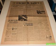 L'écho De Nancy Du 18 Mai 1944.(Jean Lousteau Et Les Waffen) - Magazines & Papers