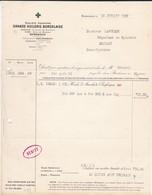 FACTURE--33--BORDEAUX--Grande Huilerie Bordelaise--bureaux 8 Cours De Gourgue--usine Quai De Brazza 1922--voir 2 Scans - Frankrijk