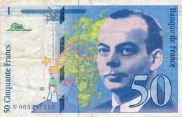 Billet De La Banque De FRANCE  50 Francs 1992 - 50 F 1992-1999 ''St Exupéry''