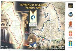 MONDIALI DI CICLISMO VENETO 1999 - TREVISO E VERONA - ANNULLO FILATELICO 10-10-99   (TV) - (VR) - Treviso
