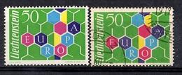 Liechtenstein Europa 1960 YT N° 355 Neuf ** MNH Et Oblitéré. TB. A Saisir! - Liechtenstein