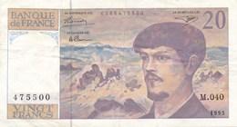 Billet De La Banque De FRANCE  20 Francs 1993 - 1962-1997 ''Francs''