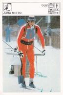 JUHA MIETO CARD-SVIJET SPORTA (B439) - Sport Invernali