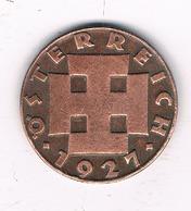 2 GROSCHEN 1927  OOSTENRIJK /0263/ - Autriche