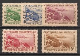 Algérie - 1938 - N°Yv. 142 à 146 - Philippeville - Série Complète - Neuf * / MH VF - Algeria (1924-1962)