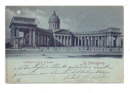 RU 190000 SANKT PETERSBURG, Kazan Kathedrale, 1899, Petersburger Nummernstempel, Mondschein-Karte - Russland