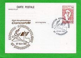 E / P Avec Cachet Exposition  Aerophilatique De STRASBOURG .. - Collections (sans Albums)