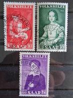 SARRE 1954 Y&T N° 334 à 336 OB - AU PROFIT DES OEUVRES POPULAIRES - 1947-56 Gealieerde Bezetting