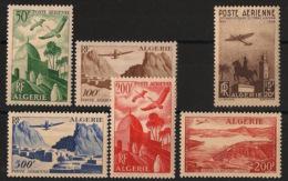 Algérie - 1949-57 - Poste Aérienne PA N°Yv. 9 à 14 - Complet - 6 Valeurs - Neuf Luxe ** / MNH / Postfrisch - Algérie (1924-1962)