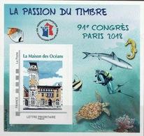 France, Congress In Paris, 2018, MNH VF  FFAP Souvenir Sheet Of 1 - Unused Stamps