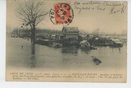 TOURS (environs) - CRUE DU CHER Janvier 1910 - JOUÉ LES TOURS - Jardins Et Habitations Du Pont Du Sanitas Inondés - Tours