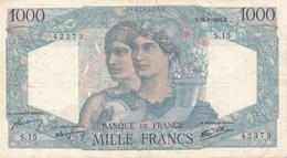 Billet De La Banque De FRANCE 1000 Francs  1945 - 1871-1952 Anciens Francs Circulés Au XXème