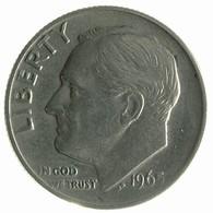 1965 - United States 1 Dime - KM# 195a - F - Emissioni Federali