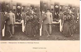 65.LOU - LOURDES - Débarquement Des Malades Au  Pèlerinage National - Stereoscope Cards