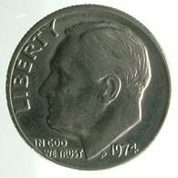 1974 - United States 1 Dime - KM# 195a -VF - Emissioni Federali
