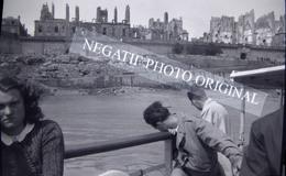 SAINT-MALO 35 Ile Et Vilaine Bombardement 1944 NEGATIF PHOTO Cliché Amateur - Orte