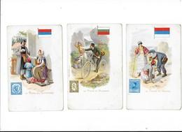 Lot De 3 Cartes - La POSTE - En SERBIE, Au MONTENEGRO, En BULGARIE  -  L 1 - Poste & Facteurs