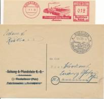 EMA 1935 (cut) - Usines De Souliers Et Oblitération 1950 - Robalden Vend De Bonne Chaussures - Allemagne - Factories & Industries