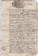 VP14.179 - PUPLINGE - Acte De 1765 - Titre Clérical Du Sr Joseph MASSON - Manuscripts