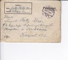 Feldpostbrief Wien Nach K.k. Eisenbahn Sicherungs Komp. II Hauptmann V. Olschbauer - Feldpost 192 - 1918 (38586) - Briefe U. Dokumente