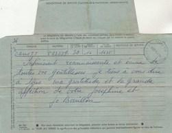 Télégramme De Joséphine ( Baker ) Et Jo Bouillon Adressé Au Casino De Paris Cachet Paris 118, Rue D'Amsterdam 16/4/1956 - Autographs