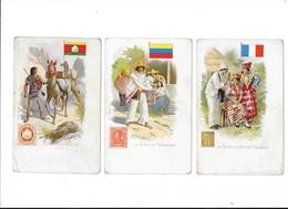 Lot De 3 Cartes - La POSTE - A La GUYANE Française, En BOLIVIE, Au VENEZUELA  -  L 1 - Poste & Facteurs