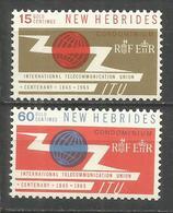NUEVA HEBRIDES YVERT NUM. 213/214 ** SERIE COMPLETA SIN FIJASELLOS - Unused Stamps