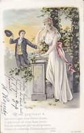 AK Sei Gegrüsst - Künstlerkarte - Mann Und Frau - Romantik - Prägedruck - Danzig 1904 (38587) - Paare
