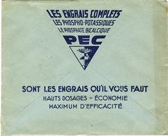 ENVELOPPE  A EN-TETE POTASSE ENGRAIS CHIMIQUE LILLE PEC BELLE ILLUSTRATION AU VERSO - Postmark Collection (Covers)