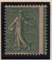SEMEUSE  -  N° 130 IV P  - 15 C. Piquage à Cheval  Donnant  5c. Au  Lieu  De  15 C. - 1903-60 Semeuse Lignée