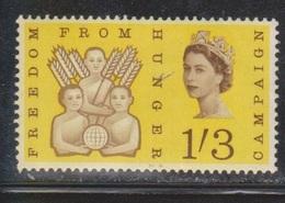 GREAT BRITAIN Scott # 391 MNH - Freedom From Hunger - Corner Crease - 1952-.... (Elizabeth II)