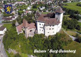 1 AK Liechtenstein * Blick Auf Balzers Im Vordergrund Die Burg Gutenberg  - Erbaut Im 12. Jahrhundert - Luftbildaufnahme - Liechtenstein