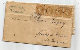 - SEINE - PARIS - Etoile N°11 S/ Deux Pairés TP Napoléon Lauré N°28 + Càd T.17 - 1870 - 1863-1870 Napoléon III Lauré