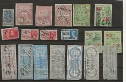 FISCAUX BELGIQUE 20 TIMBRES OBLITERES - Revenue Stamps