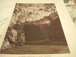 AFFICHE PHOTO DOUBLE INSCRIPTION DU TUNNEL MACKENSEN 1919 - Army & War