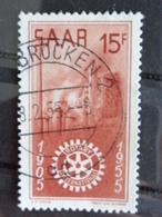 SARRE 1955 Y&T N° 340 OB - CINQUANTENAIRE DU ROTARY INTERNATIONAL - Usati