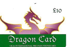 CARTE+PREPAYEE-10£-DRAGON CARD-GB-Plastic Fin-GRATTE- TBE - Royaume-Uni