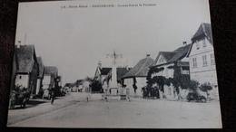 CPA DANNEMARIE HTE ALSACE HT RHIN 68 GRANDE RUE ET FONTAINE ED CHADOURNE 1916 - Dannemarie