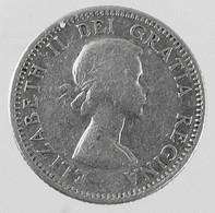1953 - Canada 10 Cents - Silver - KM # 51 - F- - Canada