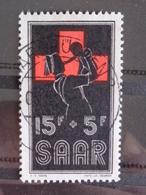 SARRE 1955 Y&T N° 343 OB - AU PROFIT DE LA CROIX ROUGE - 1947-56 Gealieerde Bezetting