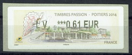 """France, ATM Label, """"Timbres Passion - Poitiers"""", 2014, 0,61€, MNH VF - 2010-... Illustrated Franking Labels"""