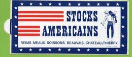 STOCKS AMERICAINS  REIMS MEAUX SOISSONS BEAUVAIS CHATEAU THIERRY * AUTOCOLLANT A1143 * - Autocollants