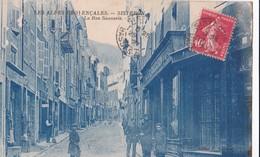 Carte 1925 SISTERON / LA RUE SAUNERIE - Sisteron