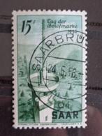 SARRE 1956 Y&T N° 351 OB - JOURNEE DU TIMBRE - 1947-56 Ocupación Aliada