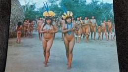 CPSM NU FEMMES NUES BRASIL NATIVO DANSA RITUAL YAMARICUMA  TRUMAI XINGU INDIENNES PHOTO JESCO - Unclassified