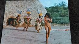 CPSM NU FEMMES NUES BRASIL NATIVO DANSA RITUAL YAMARICUMA  TRUMAI XINGU INDIENNES PHOTO JESCO AUTRE - Unclassified