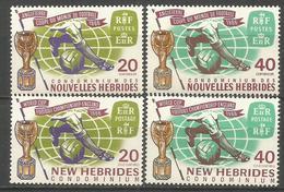 NUEVA HEBRIDES YVERT NUM. 245/248 ** SERIE COMPLETA SIN FIJASELLOS - Leyenda Francesa