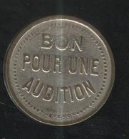 Jeton Bon Pour Une Audition - Lyre Au Verso - Professionali / Di Società